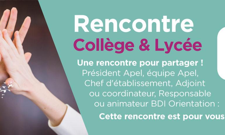 Equipes Apel : Inscrivez-vous à la Rencontre Collège & Lycée