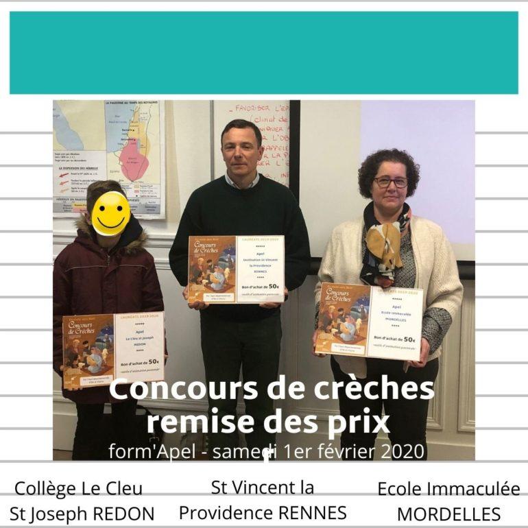 REMISE DE PRIX CONCOURS DE CRÈCHES 2019